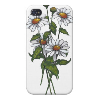 Daisy: Daisies: Flowers; Floral Art Cover For iPhone 4