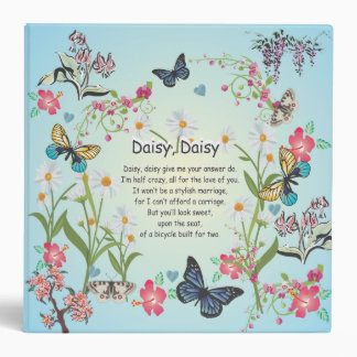 Daisy, daisy, give me the answer do song with flow binder