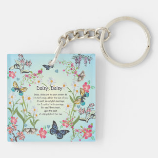 Daisy, daisy, give me the answer do song with flow keychain