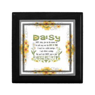 Daisy, daisy give me your answer do. keepsake box