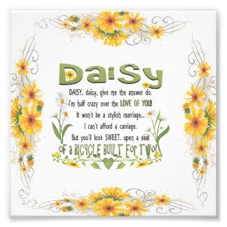 Daisy, daisy give me your answer do. photo art