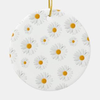 Daisy, daisy - lovely flower design Double-Sided ceramic round christmas ornament