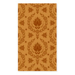 Daisy Damask, BAMBOO Double-Sided Standard Business Cards (Pack Of 100)
