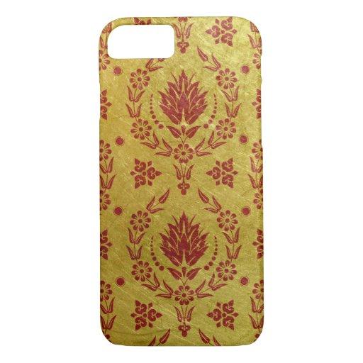 Daisy Damask, BRUSHED METAL iPhone 8/7 Case