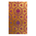 Daisy Damask, Brushed Metal in Rose Gold & Purple Business Card Templates