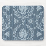Daisy Damask, Denim in Shades of Blue & White Mouse Pad