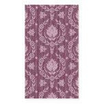 Daisy Damask, Denim in Shades of Plum and White Business Card Template
