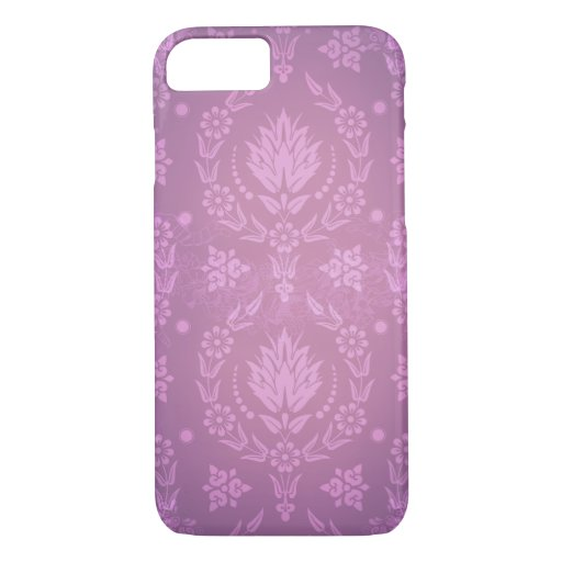 DAISY DAMASK: GHOSTLY in PLUM and PINK iPhone 8/7 Case