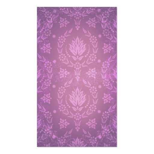Daisy Damask, Ghostly in Shades of Plum and Pink Double-Sided Standard Business Cards (Pack Of 100)
