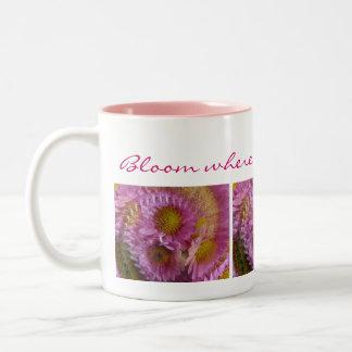 """Daisy Dance"" Coffee Mug with Inscription"