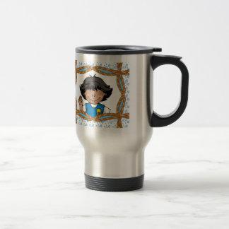 Daisy Dark Skin Travel Mug