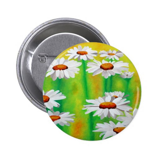 Daisy Day Pinback Button