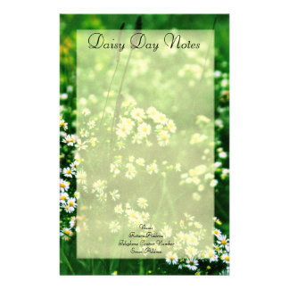Daisy Day Notes Stationary Stationery