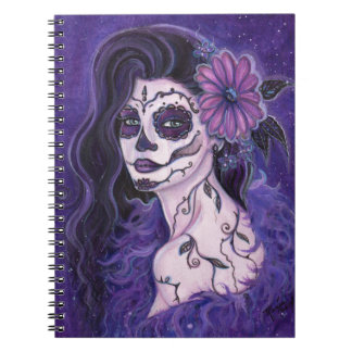 Daisy Day of the Dead glamour girl By Renee Spiral Notebook