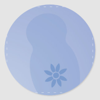 Daisy Days BABY Blue Classic Round Sticker