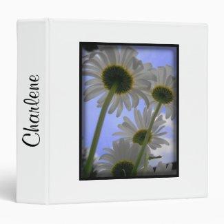 Daisy Days Flower Vinyl Binder