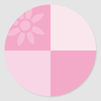 Daisy Days Pink Classic Round Sticker