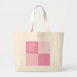 Daisy Days Pink Large Tote Bag