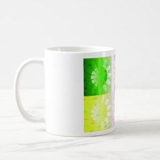 Daisy daze classic white coffee mug