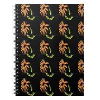 Daisy Designs by Carole Tomlinson Spiral Notebook
