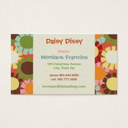 Daisy Dissy - Orange - Business Card