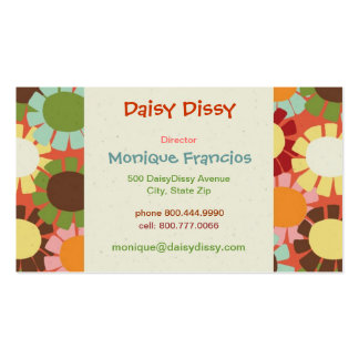 Daisy Dissy - Orange - Business Card