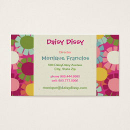 Daisy Dissy - Pink - Business Card