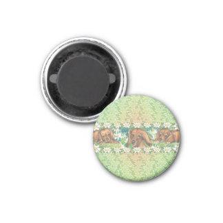 Daisy Dogs Dachshund Puppies 1 Inch Round Magnet