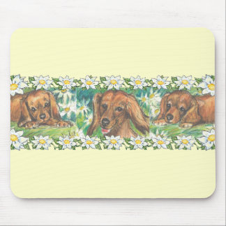 Daisy Dogs Dachshund Puppies Mouse Pad