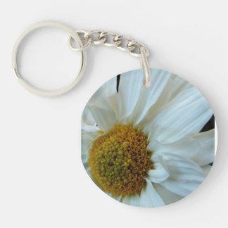 Daisy Double-Sided Round Acrylic Keychain