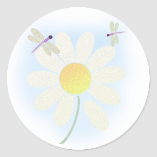 Daisy Dragonflies Sticker