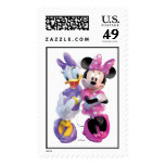 Daisy Duck And Minnie leaning against each other Postage Stamp