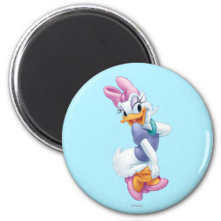 Round Magnet with Daisy Duck design
