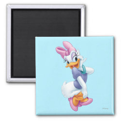 Square Magnet with Daisy Duck design