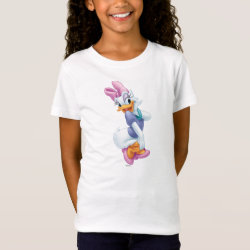 Girls' Fine Jersey T-Shirt with Daisy Duck design