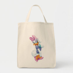 Grocery Tote with Daisy Duck design