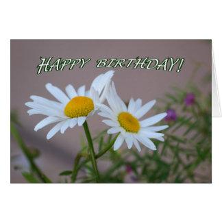 Daisy Duo Birthday Card - blank inside
