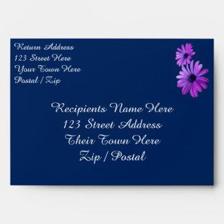 Daisy Envelopes Custom Blue Daisies Envelopes
