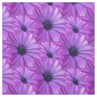 Daisy Fabric Purple Daisy Fabric Cotton or Poly