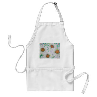 Daisy Field Watercolor Painting Adult Apron