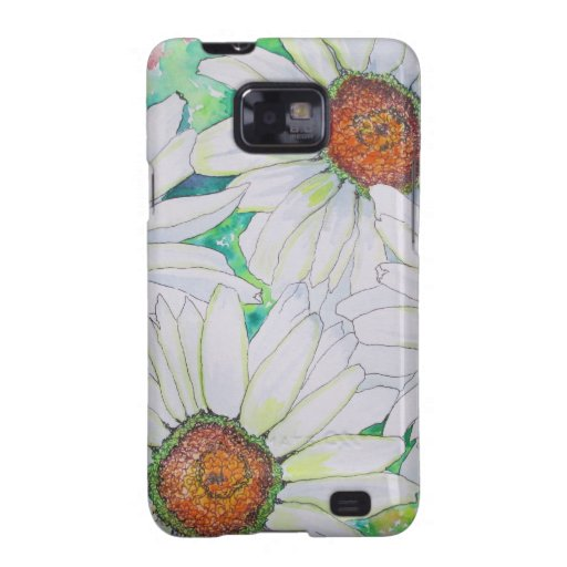 Daisy Field Watercolor Painting Samsung Galaxy SII Case
