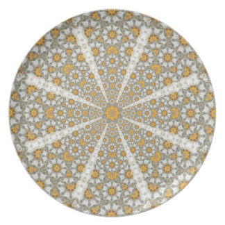 Daisy Fields Mandala Dinner Plate