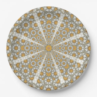 Daisy Fields Mandala Paper Plate