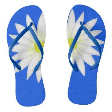 Beach Themed daisy flip flops