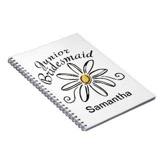 Daisy Floral Jr. Bridesmaid Spiral Note Book