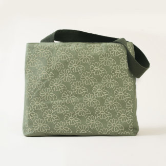 Daisy floral tote