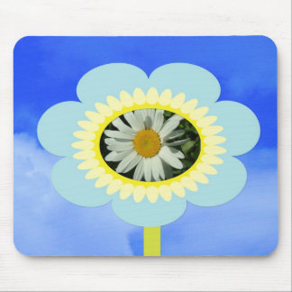 daisy, flower and blue sky mouse pad