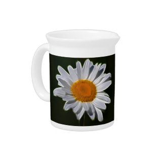 Daisy flower and its meaning beverage pitcher