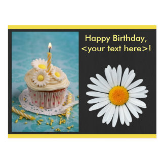 Daisy Flower Birthday Invitation Postcard