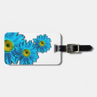 Daisy Flower blue Travel Bag Tag